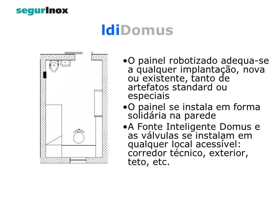 ldiDomus O painel robotizado adequa-se a qualquer implantação, nova ou existente, tanto de artefatos standard ou especiais.