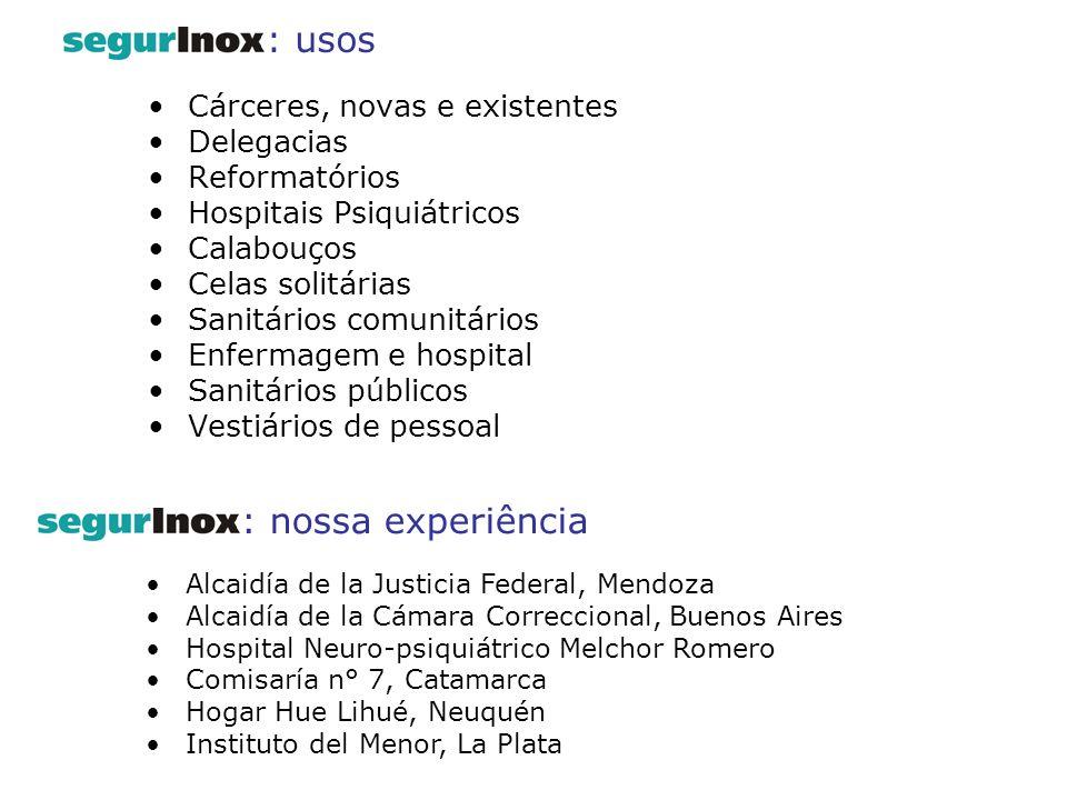 : usos : nossa experiência Cárceres, novas e existentes Delegacias