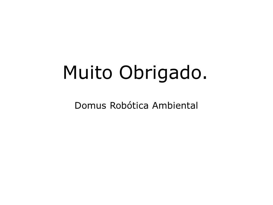 Domus Robótica Ambiental