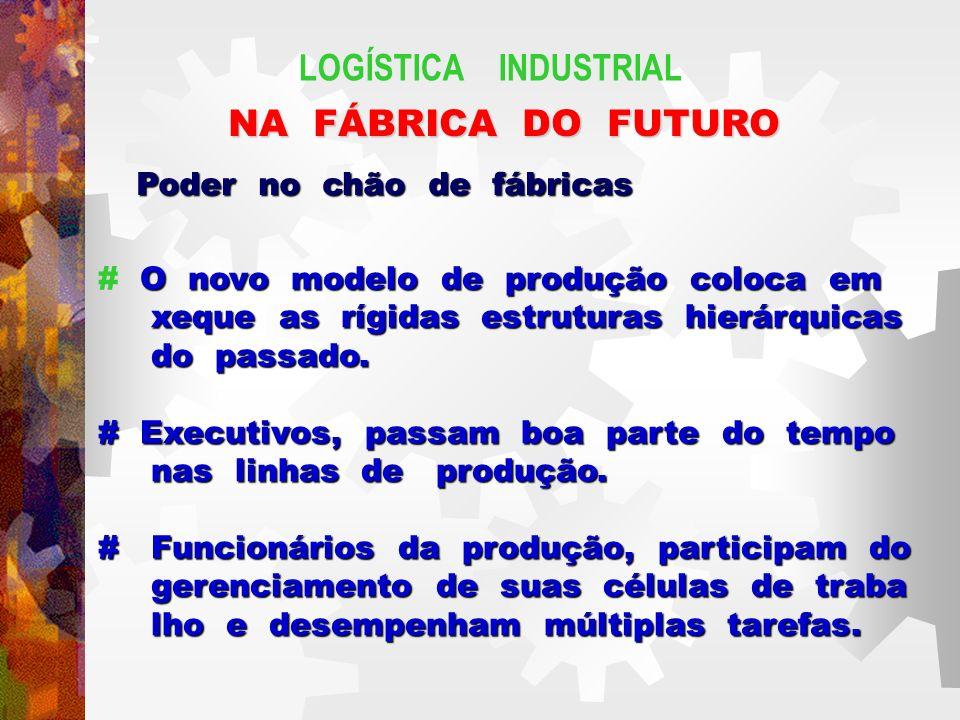LOGÍSTICA INDUSTRIAL NA FÁBRICA DO FUTURO Poder no chão de fábricas