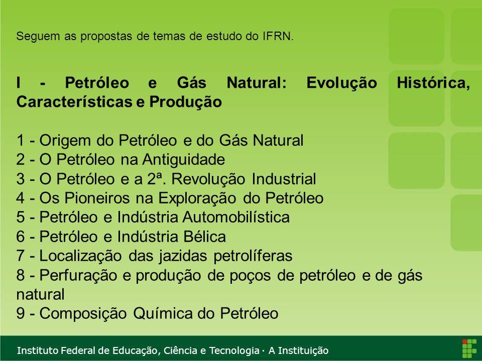 1 - Origem do Petróleo e do Gás Natural 2 - O Petróleo na Antiguidade