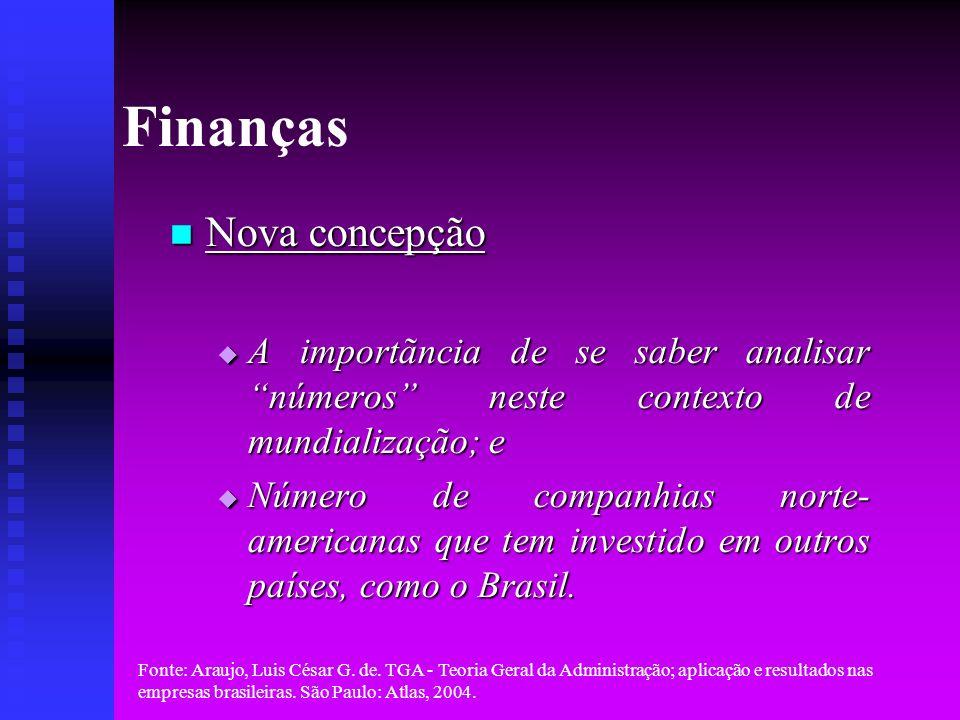 Finanças Nova concepção