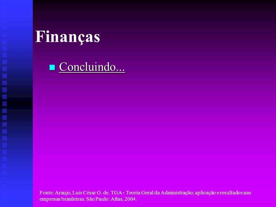 Finanças Concluindo...