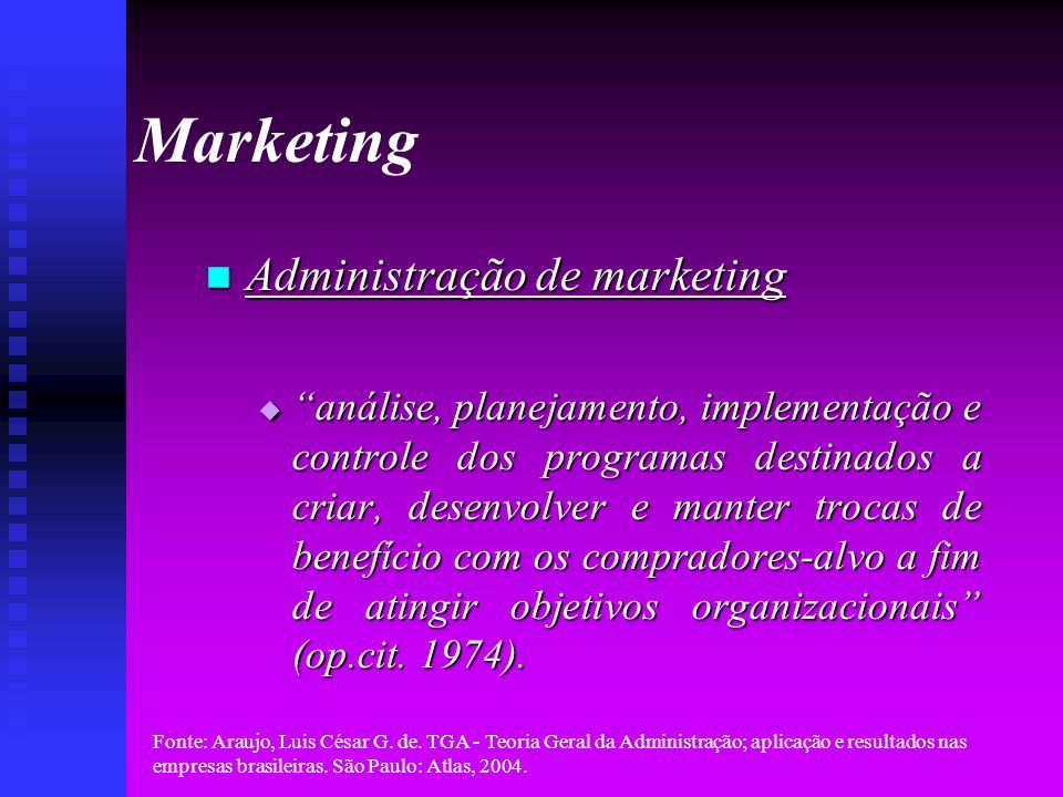Marketing Administração de marketing