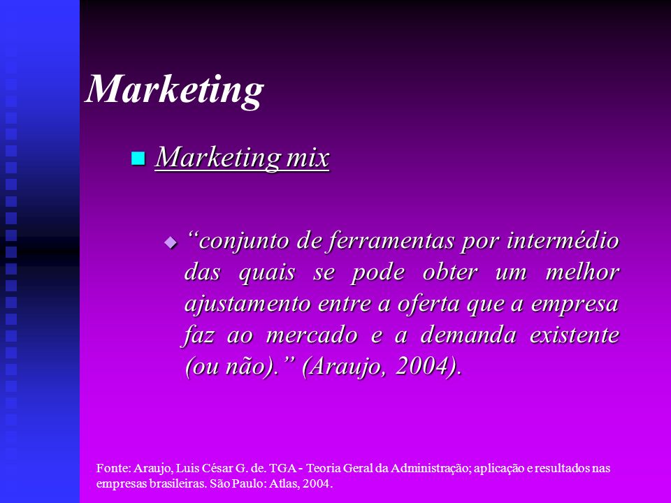 Marketing Marketing mix