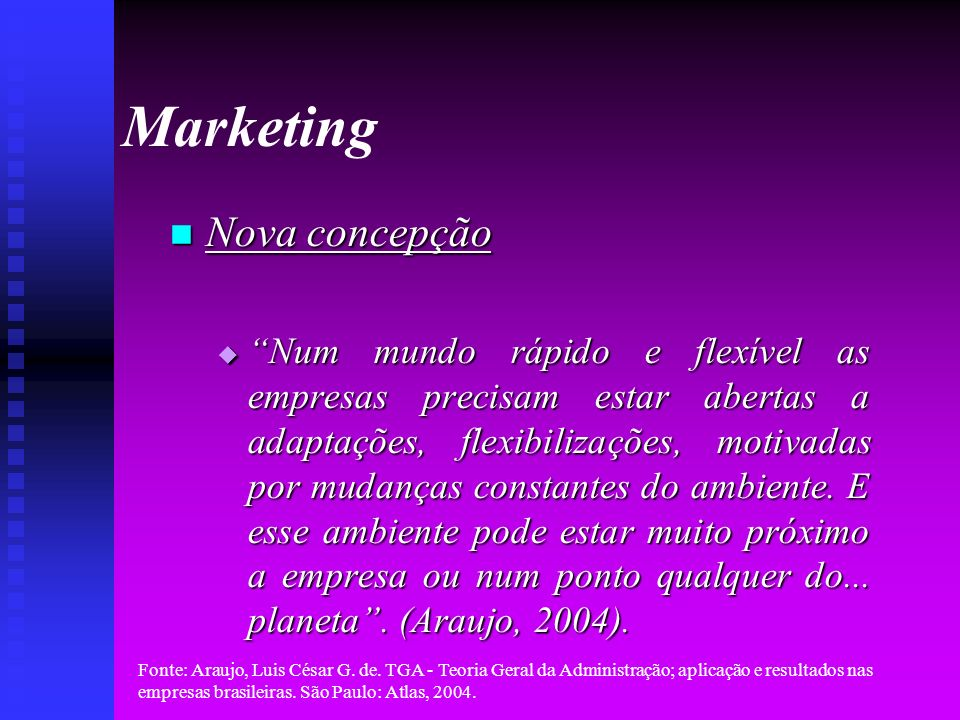 Marketing Nova concepção