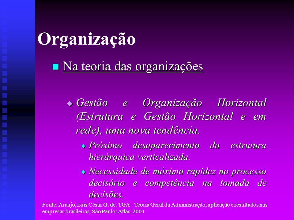 Organização Na teoria das organizações