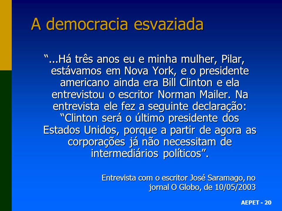 A democracia esvaziada