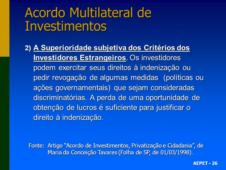 Acordo Multilateral de Investimentos