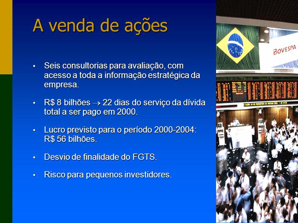 A venda de ações Seis consultorias para avaliação, com acesso a toda a informação estratégica da empresa.