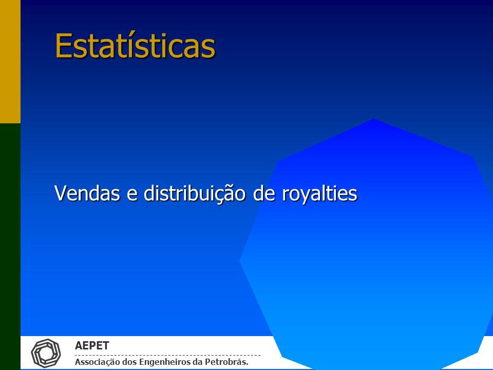 Vendas e distribuição de royalties