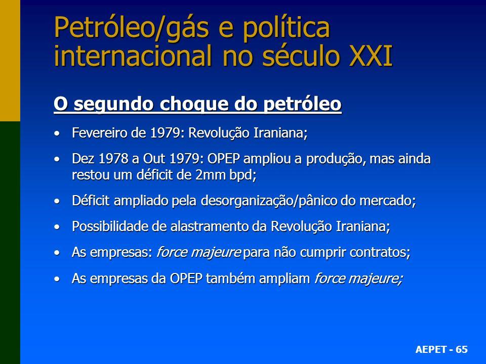 Petróleo/gás e política internacional no século XXI