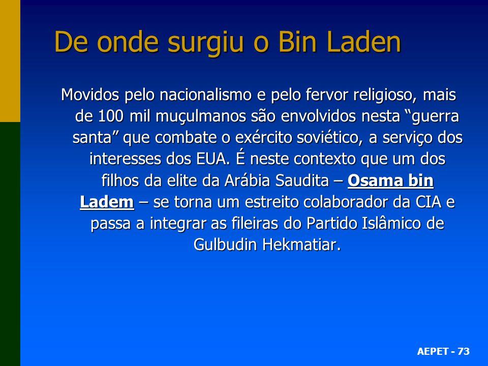 De onde surgiu o Bin Laden