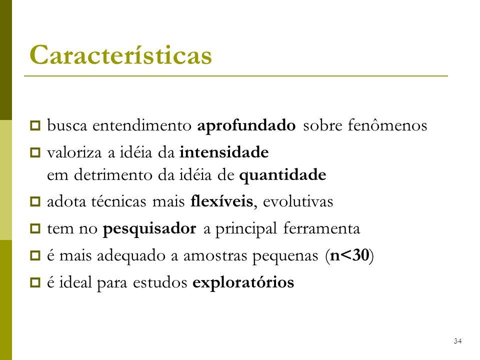 Características busca entendimento aprofundado sobre fenômenos