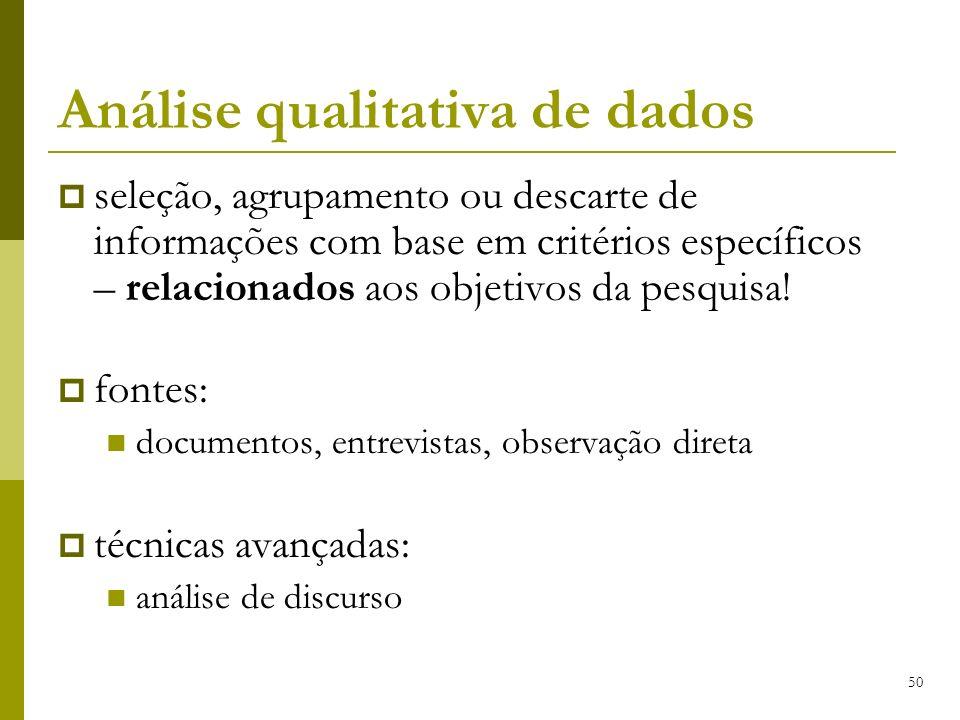 Análise qualitativa de dados