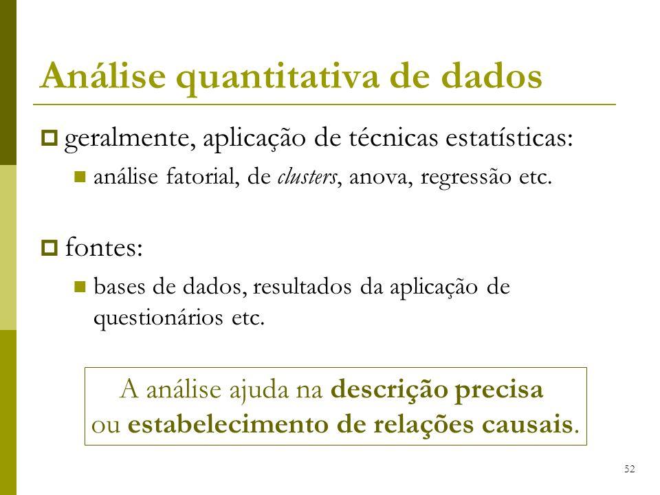 Análise quantitativa de dados
