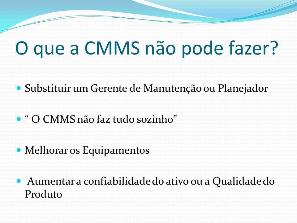 O que a CMMS não pode fazer