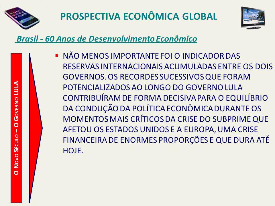 PROSPECTIVA ECONÔMICA GLOBAL O Novo Século – O Governo LULA