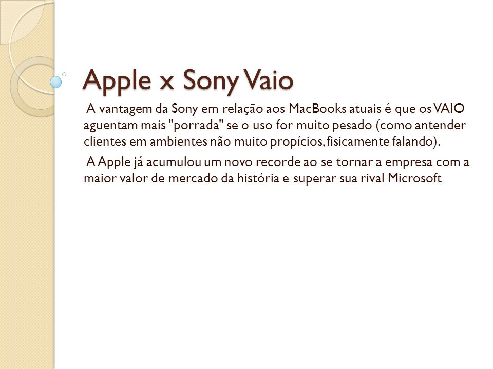 Apple x Sony Vaio