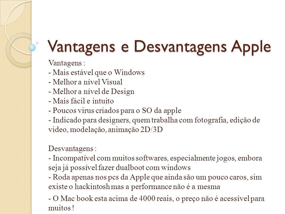 Vantagens e Desvantagens Apple