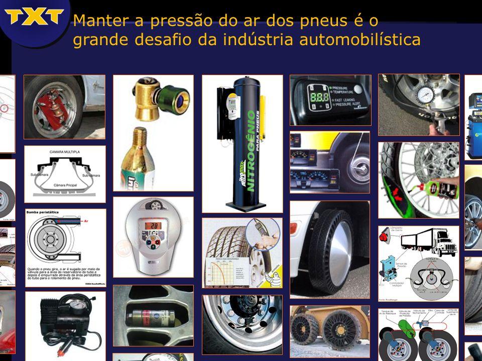 Manter a pressão do ar dos pneus é o grande desafio da indústria automobilística