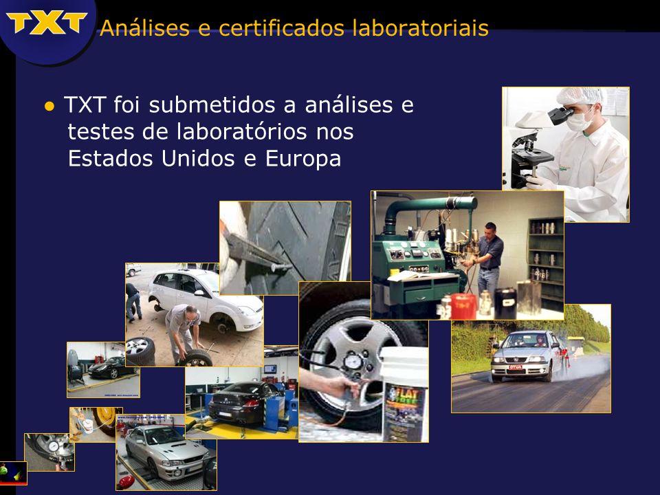 Análises e certificados laboratoriais