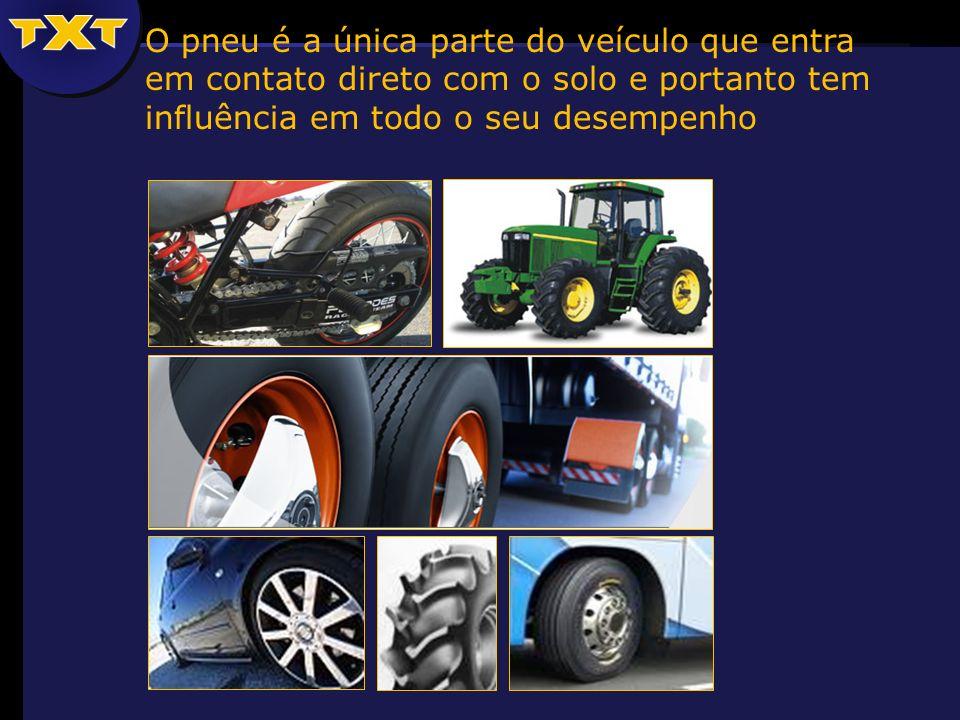 O pneu é a única parte do veículo que entra