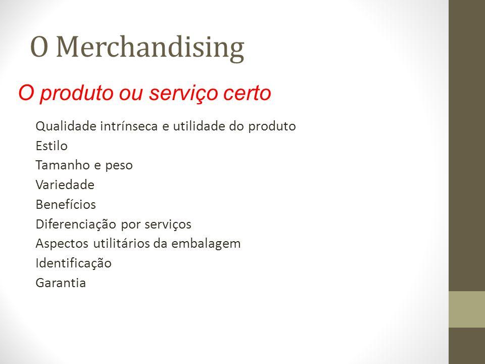 O Merchandising O produto ou serviço certo