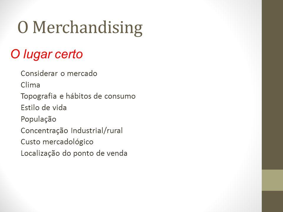 O Merchandising O lugar certo