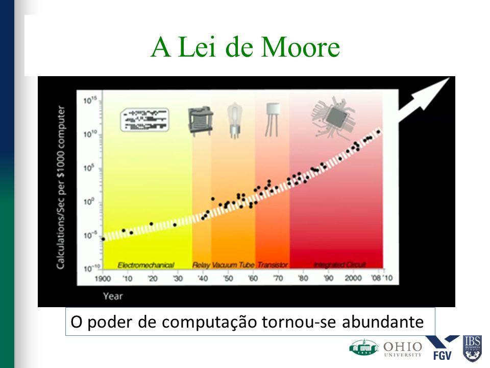 A Lei de Moore O poder de computação tornou-se abundante