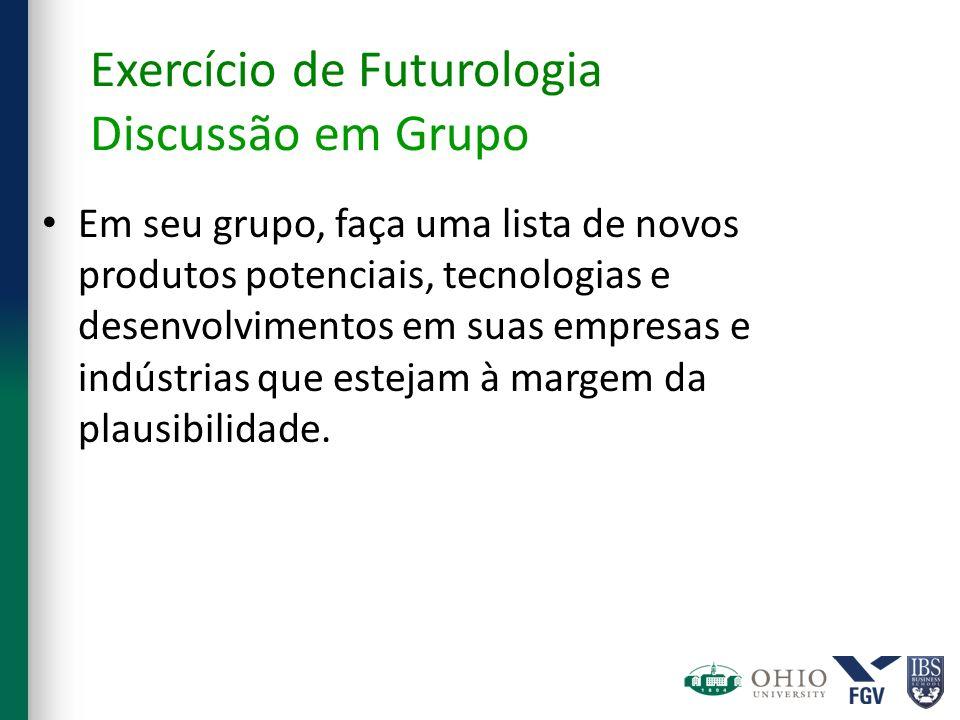 Exercício de Futurologia Discussão em Grupo