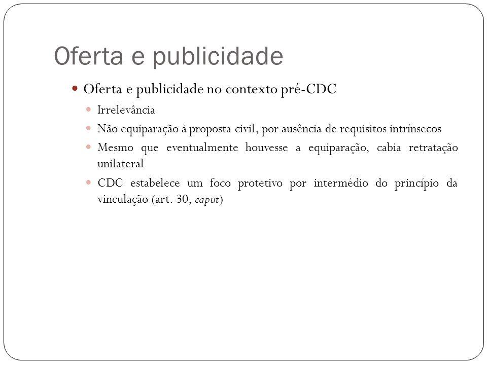 Oferta e publicidade Oferta e publicidade no contexto pré-CDC
