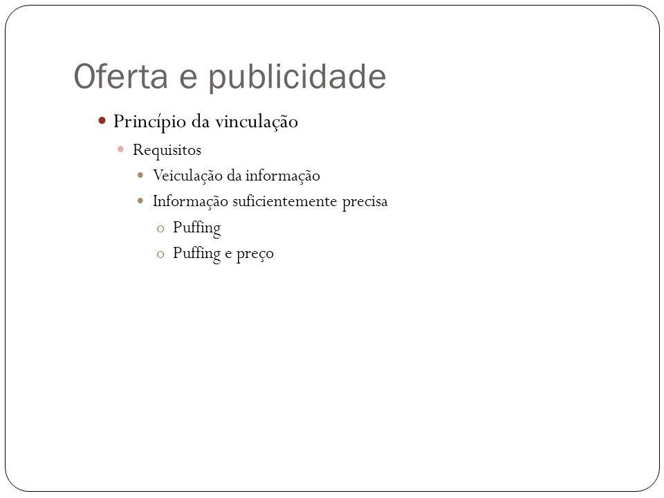Oferta e publicidade Princípio da vinculação Requisitos
