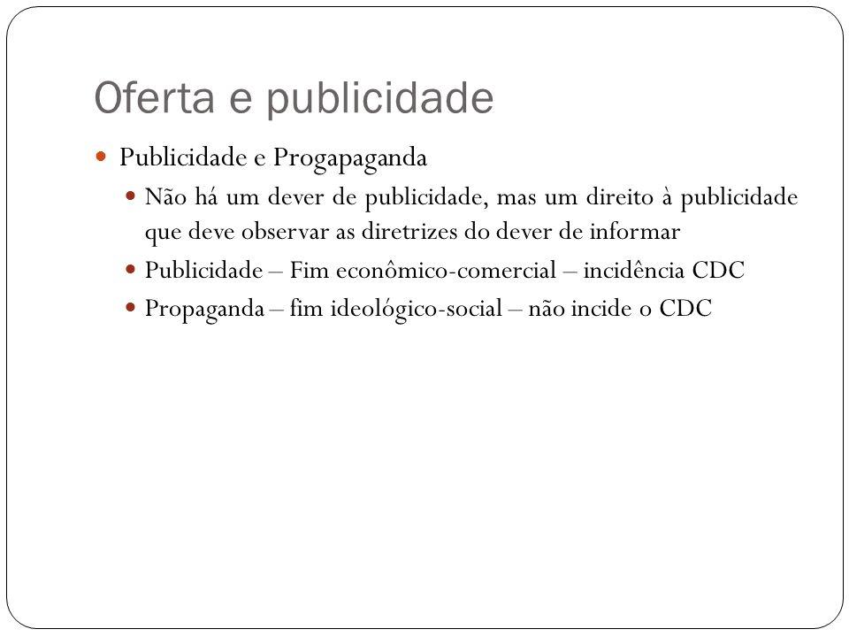 Oferta e publicidade Publicidade e Progapaganda