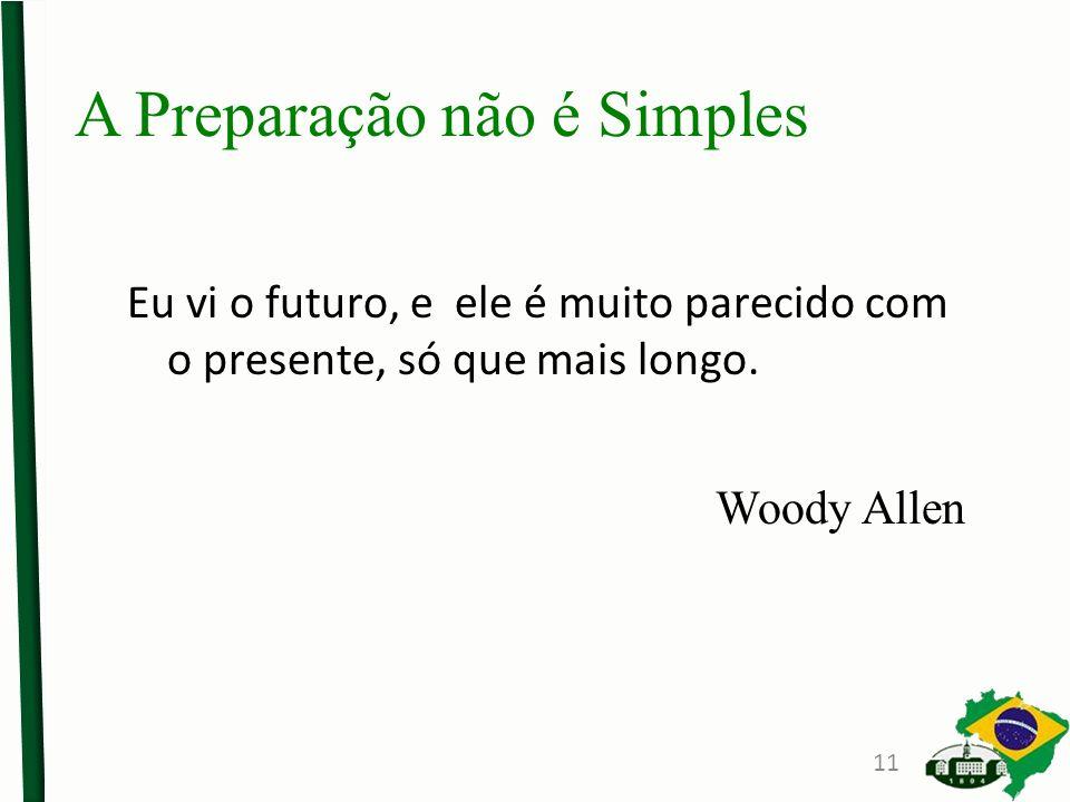 A Preparação não é Simples