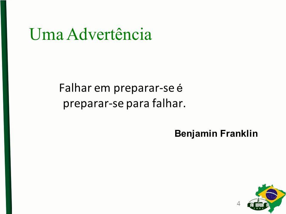 Falhar em preparar-se é preparar-se para falhar.