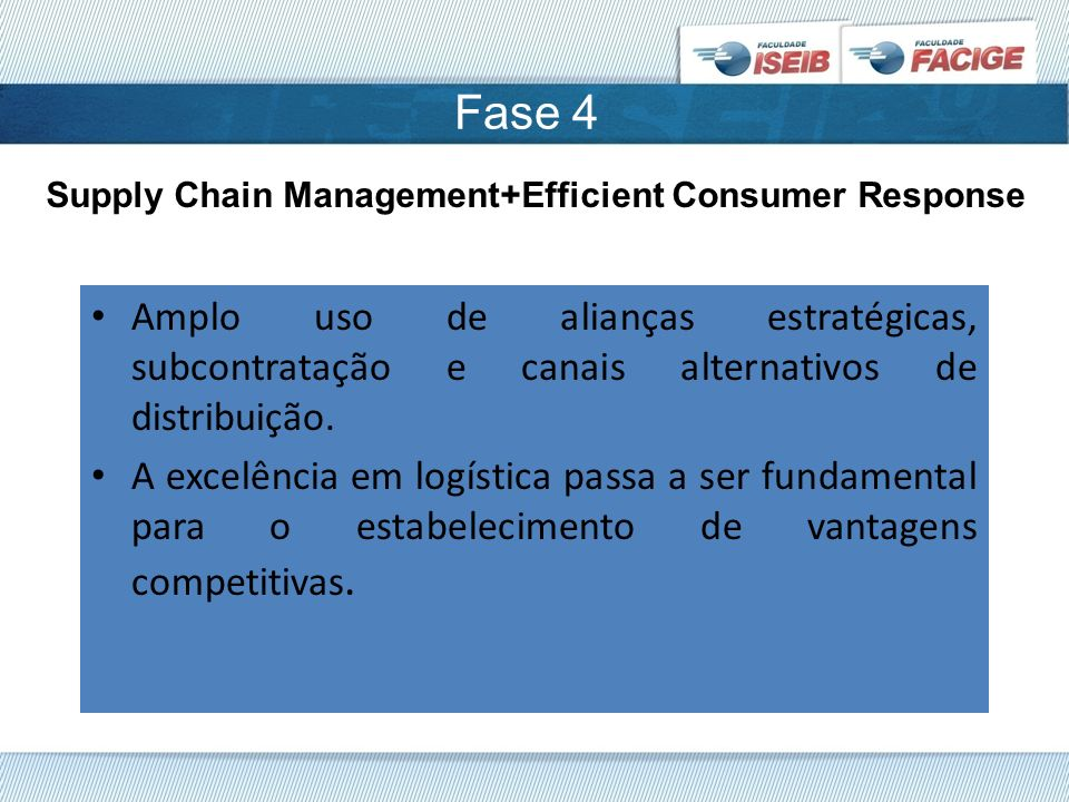 Fase 4 Supply Chain Management+Efficient Consumer Response.