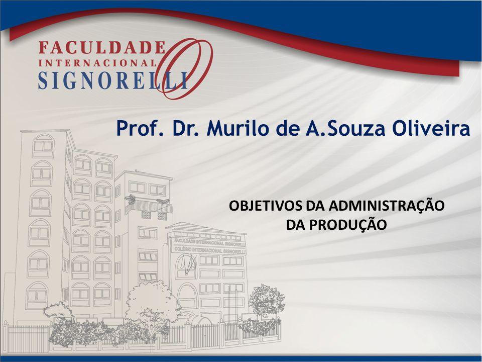 Prof. Dr. Murilo de A.Souza Oliveira OBJETIVOS DA ADMINISTRAÇÃO