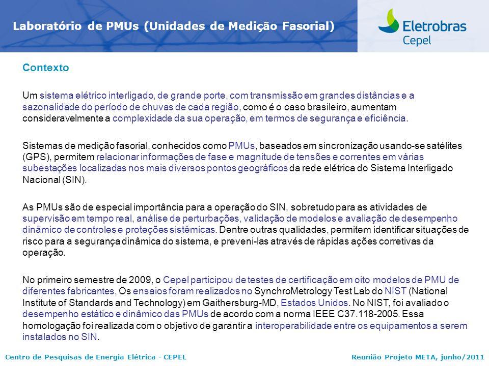 Laboratório de PMUs (Unidades de Medição Fasorial)