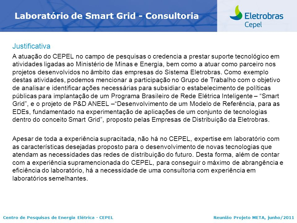 Laboratório de Smart Grid - Consultoria