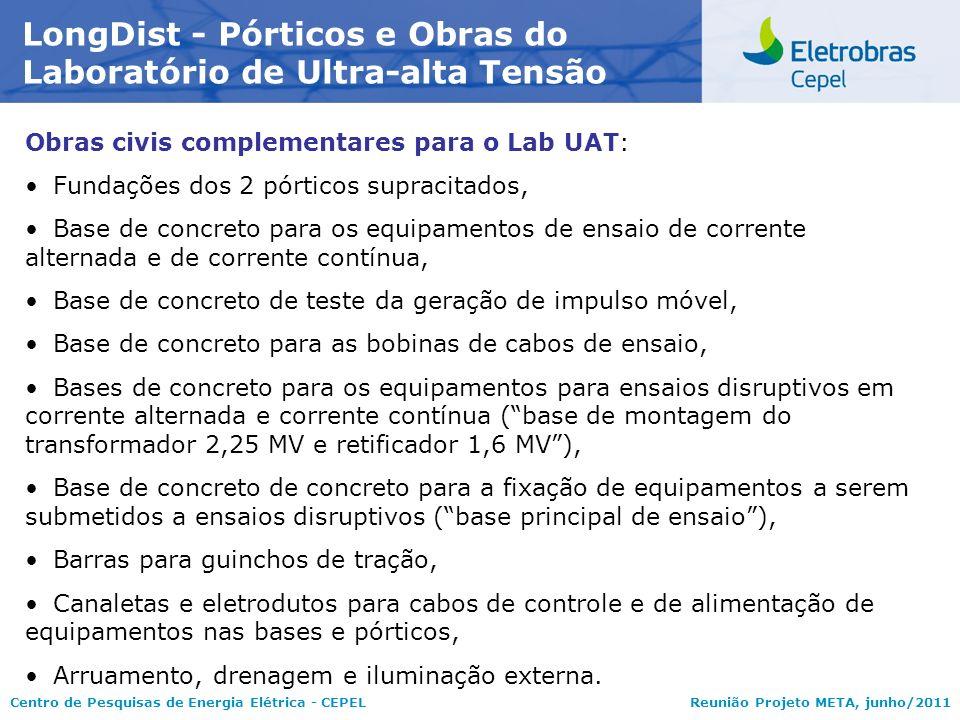 LongDist - Pórticos e Obras do Laboratório de Ultra-alta Tensão
