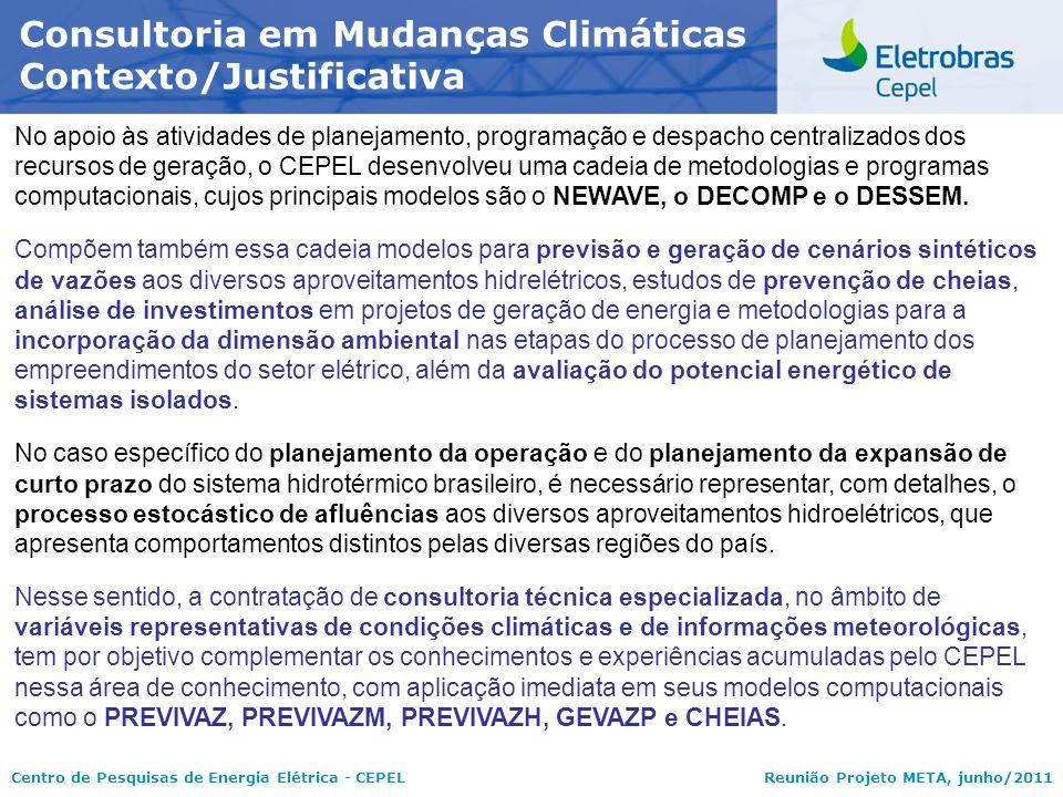 Consultoria em Mudanças Climáticas Contexto/Justificativa