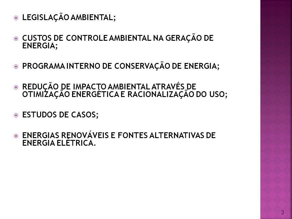 LEGISLAÇÃO AMBIENTAL;