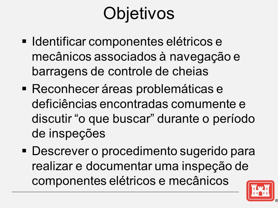 Objetivos Identificar componentes elétricos e mecânicos associados à navegação e barragens de controle de cheias.