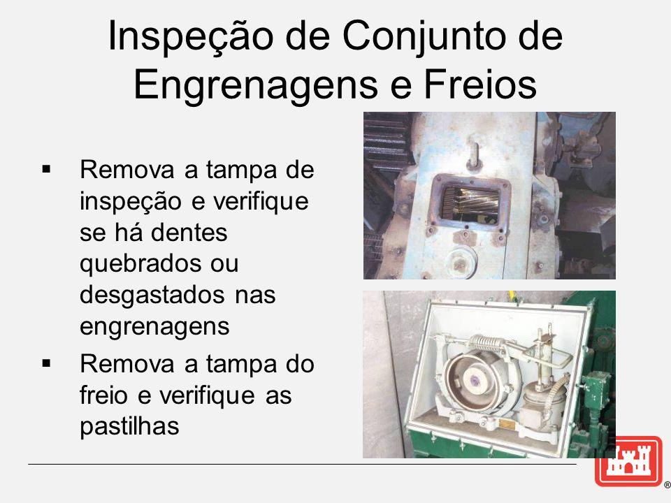 Inspeção de Conjunto de Engrenagens e Freios