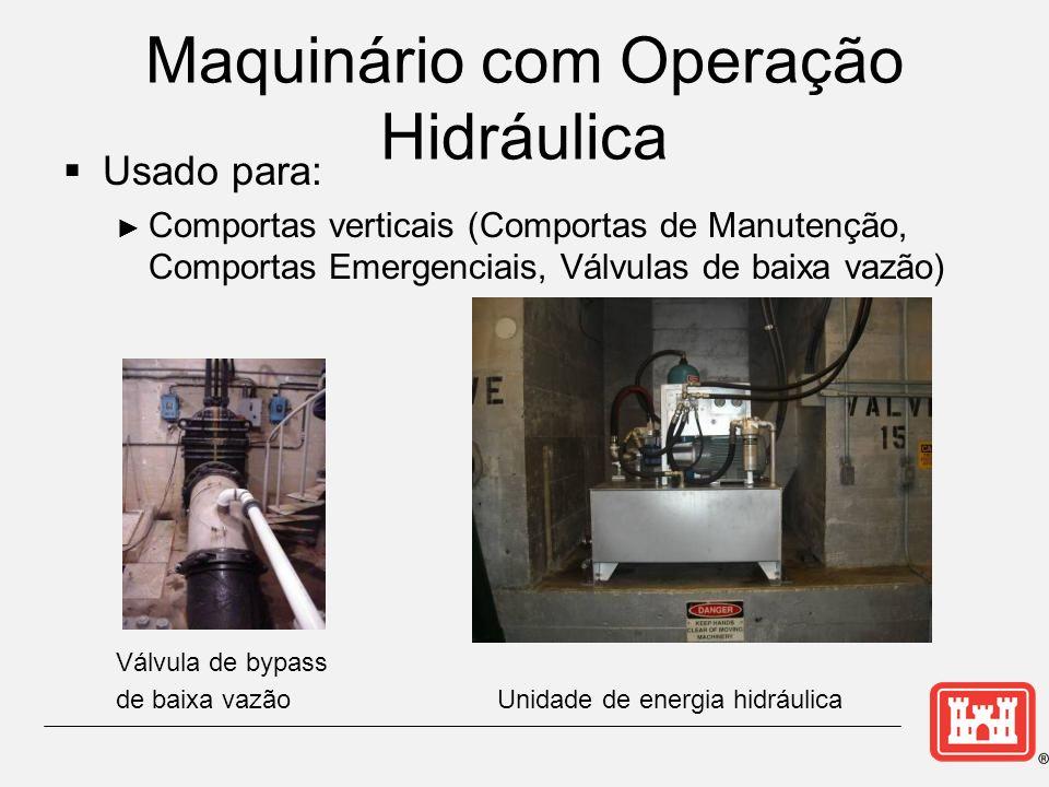 Maquinário com Operação Hidráulica