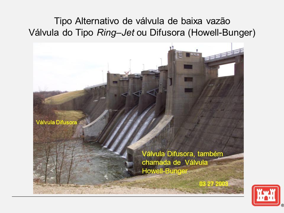 Tipo Alternativo de válvula de baixa vazão Válvula do Tipo Ring–Jet ou Difusora (Howell-Bunger)
