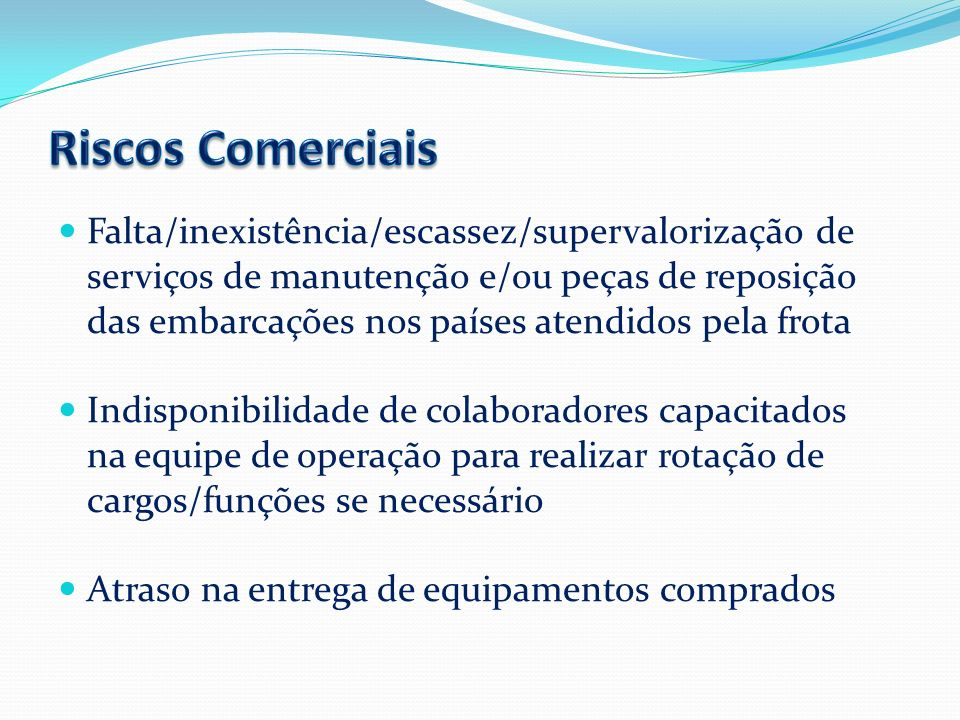 Riscos Comerciais