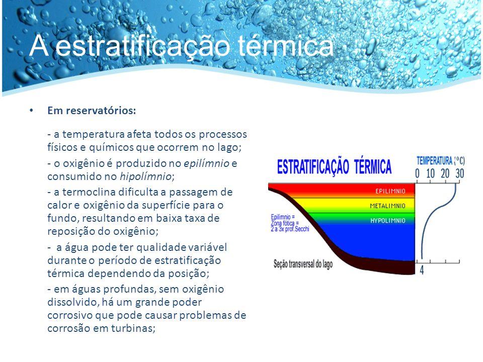 A estratificação térmica