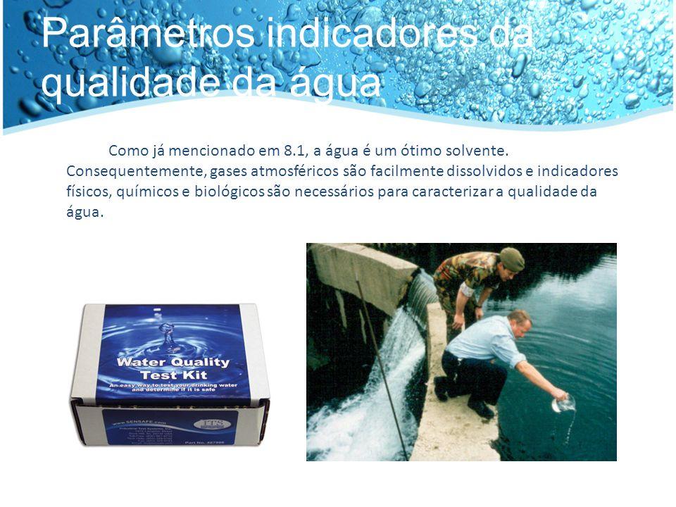Parâmetros indicadores da qualidade da água
